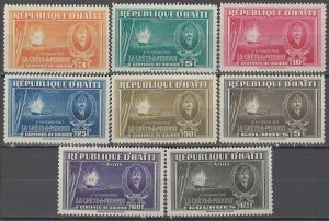 COLLECTION LOT OF #1747 HAITI # 349-54 C22-3 MH 1943