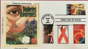 Colorano Silk 3503 Diabetes Awareness Combo Breast Cancer Prostrate Cancer AIDS