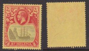 St. Helena #97 MH tall ship CV $30