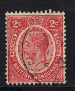 British Honduras 1922 used 2ct red   #
