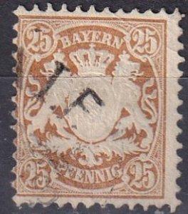 Bavaria #43 F-VF Used CV $6.50 (Z7084)
