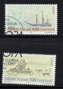 Greenland Sc 268-9 1994 Europa Expedition stamp set used