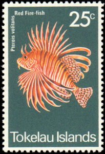 Tokelau #45-48, Complete Set(4), 1975, Fish, Never Hinged