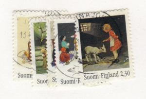 Finland #916-20 used cpl - Christmas