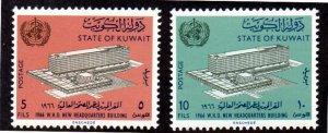 KUWAIT 323-324 MNH SCV $2.10 BIN $1.25 WHO