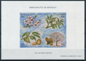 [I1677] Monaco 1993 Flowers good sheet very fine MNH imperf $230
