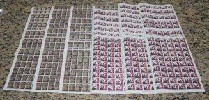 SG217/8 1967 Gibraltar Christmas Sheets U/M