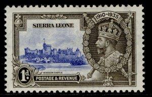 SIERRA LEONE GV SG181, 1d ultramarine & grey-black, M MINT.