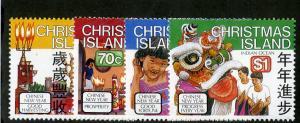 CHRISTMAS ISLAND 226-229 MH SCV $4.45 BIN $1.85 CULTURAL