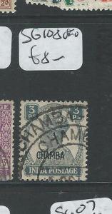 INDIA CHAMBA (PP0804B) KGVI  3P  SG 108  VFU