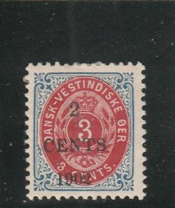 Danish West Indies  Scott#  24  MH  (1902 Surcharge)