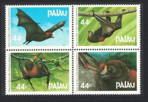Palau Fruit Bat 4v Block of 4 SG#168-171