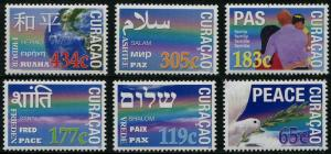 HERRICKSTAMP NEW ISSUES CURACAO Sc.# 185-90 Peace