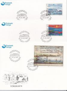Faroe Islands # 166-167 & 168, Collages, Watercolor, FDC