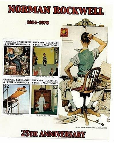 Grenada Grenadines MNH S/S Norman Rockwell 4 Stamps