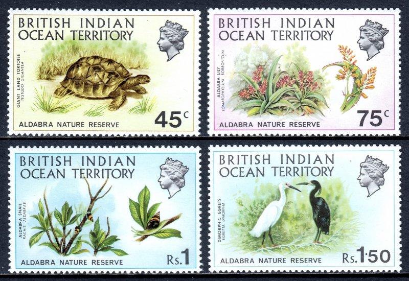 British Indian Ocean Territory - Scott #39-42 - MNH - SCV $24