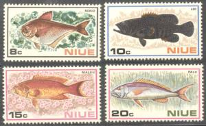 Niue ~ #156-59 ~ Fish ~ MNH Set