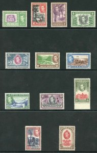 British Honduras SG150/61 1938 KGVI Set of 12 M/M