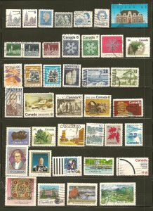 Canada Starter Collection of 90 Different Stamps Used