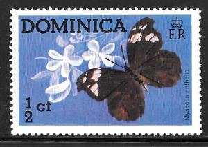 Dominica 427: 1/2c Butterfly (Myscelia antholia), MH, F-VF