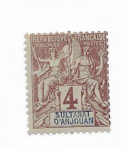 Anjouan #3 MH - Stamp - CAT VALUE $5.25