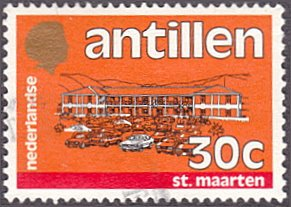 Netherlands Antilles # 501 used ~ 30¢ Government Building