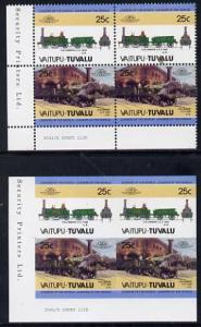 Tuvalu - Vaitupu Locomotives #1 - 25c 'Columbine 2-2-2' i...