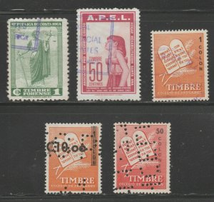 MX-74 fiscal revenue stamp c Shipping note - Costa Rica
