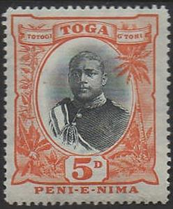 Tonga 1897 SG46 5d King George II type II MLH