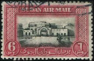 British Sudan SC# C41 Saukin 6p USED  slight rumple