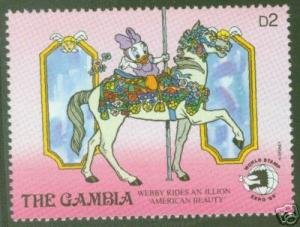 Gambia Scott 903 MNH** Illlion American Beauty stamp