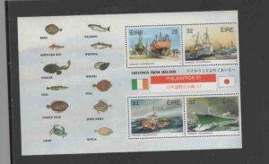 IRELAND #847a  1991 FISHING FLEET W/OVERPRT    MINT  VF NH  O.G  SB/P