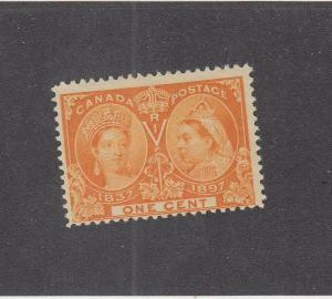 CANADA (MK1552) # 51  F-MLH  1cts  QV DIAMOND JUBILEE / ORANGE CAT VALUE $10