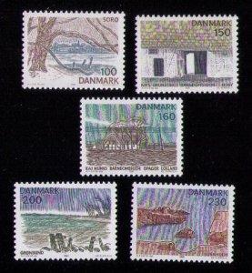 Denmark Scott # 682-686 MNH Landscapes Views of Zealand VF Complete Set