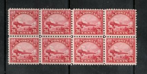 USA #C6 Very Fine Never Hinged Block Of Eight