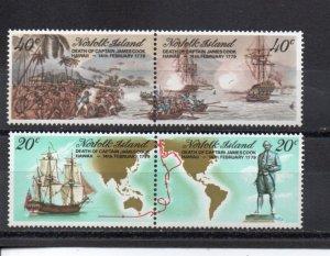 Norfolk Island 242-245 MNH