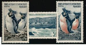 FSAT Antarctic Rockhopper Penguins issue (SC #2-4) VF MH Cat $4.75...Popular!