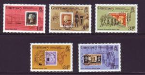 Guernsey Sc 426-40 1990 150th anniv Penny Black stamps NH