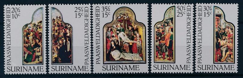 [62941] Suriname 1977 Easter - Dutch Paintings Jesus Christ  MNH