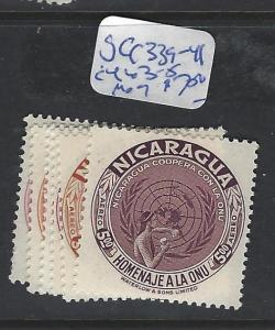 NICARAGUA (P1008B)  UN SC C339-341  MOG