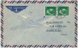 93726 - DUTCH INDIES  - POSTAL HISTORY - Airmail COVER  to USA 1948