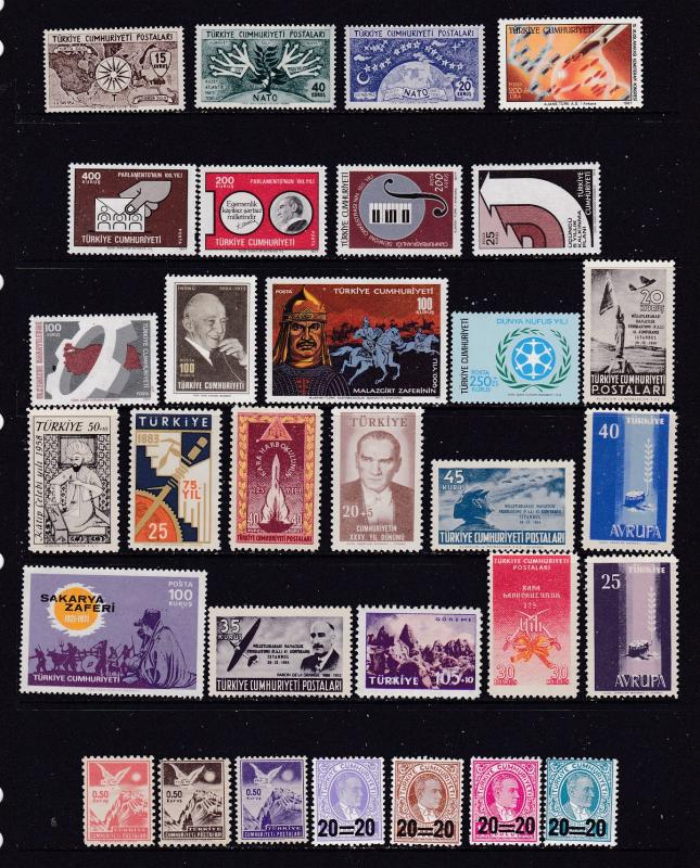 Turkey a mainly MNH lot from 1950-60's