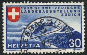 01890 Switzerland Scott #252 Zurich Mountains used, SOTN CDS handstamp cancel