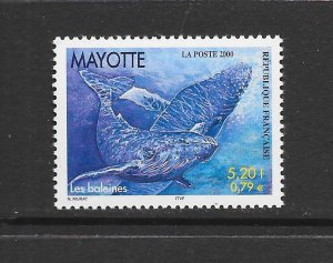 WHALE - MAYOTTE #134  MNH