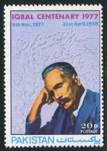 Pakistan 392, MNH. Mohammad Allama Iqbal, poet, philosopher, 1975
