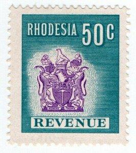 (I.B) Rhodesia Revenue: Duty Stamp 50c (1970)
