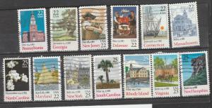 Etats-Unis  1987  Scott No. 2336-48  (O)  Complet