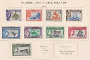 GILBERT AND ELLICE ISLANDS 61 - 69  MINT HINGED OG * NO FAULTS VERY FINE! - X638
