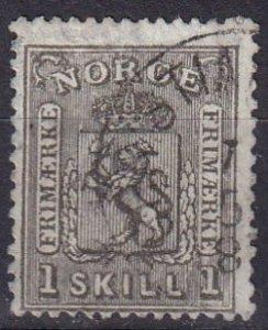 Norway #11  F-VF  Used CV $55.00 (Z6457)