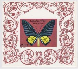 Nagaland - Butterfly Souvenir Sheet, NH